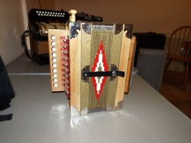 A Lovely Single Row Accordion Tunned to the Key of C £250 quick sale
