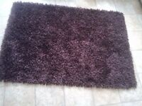 Quality Rugs x 2 Plum/Purple Colour, Shaggy Style, Cleaned