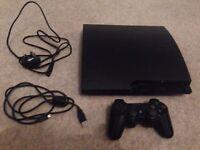 Sony PlayStation 3 Slim Black Console (CECH-3003A)