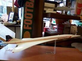 Vintage Plastic Model of British Airways Concorde On Original Display Plinth
