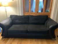 3+2 Seater Black Suite