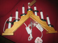 Brand new in box!, Christmas decoration, triangle candle bridge. Never used