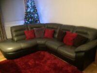 Beautiful leather corner suite