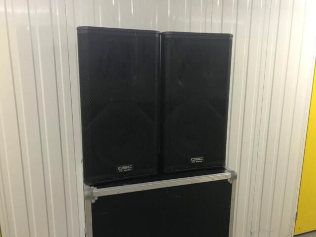 QSC KW152 Pair Active Speakers + Flight Case - ( QSC KW152 K12 RCF JBL Bose  ) | in Eltham, London | Gumtree