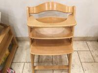 Hauck Alpha+ Wooden Height Adjustable Highchair