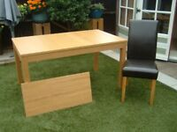 Extendable Dining Table plus 4 Chairs