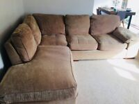 Corner sofa and cosy armchair