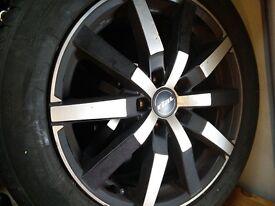 Winter tyres on alloys