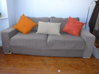 Sofa bed in very good condition. Good quality, comfortable and neutral colour.