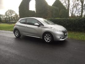 2014 Peugeot 208 active 1.2 petrol 3door silver ONLY 20 POUND TAX