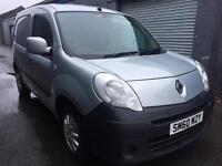 SALE! NO VAT! Bargain Renault kangoo 1.5dci van, sat back, full years MOT ready for work!