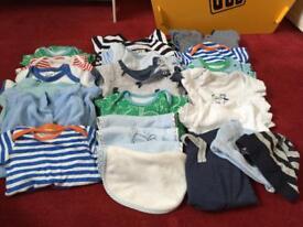 Baby boys clothing bundle 50 items