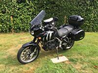2005 Triumph Tiger 955i Tourer motorbike with full luggage