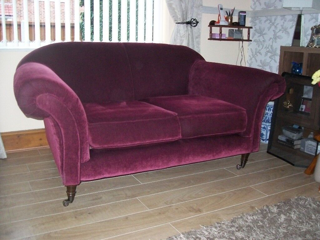Laura Ashley style Burgundy Sofa