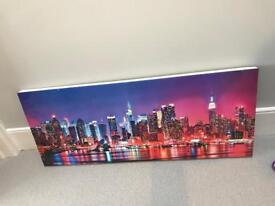 New York Skyline Canvas Print 1m x 40cm