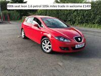 2006 seat leon 1.6 petrol , TRADE IN WELCOME