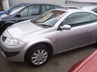 Renault Megane dynamique cabriolet,full MOT,clean tidy car,runs and drives as new,only 22k,YX56DWO