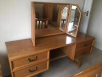 G PLAN RETRO Dressing Table & Mirror