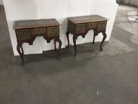 Pair of matching lowboy side cabinets