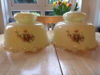 Vintage 'Milk Glass' cream coloured pendant light shade