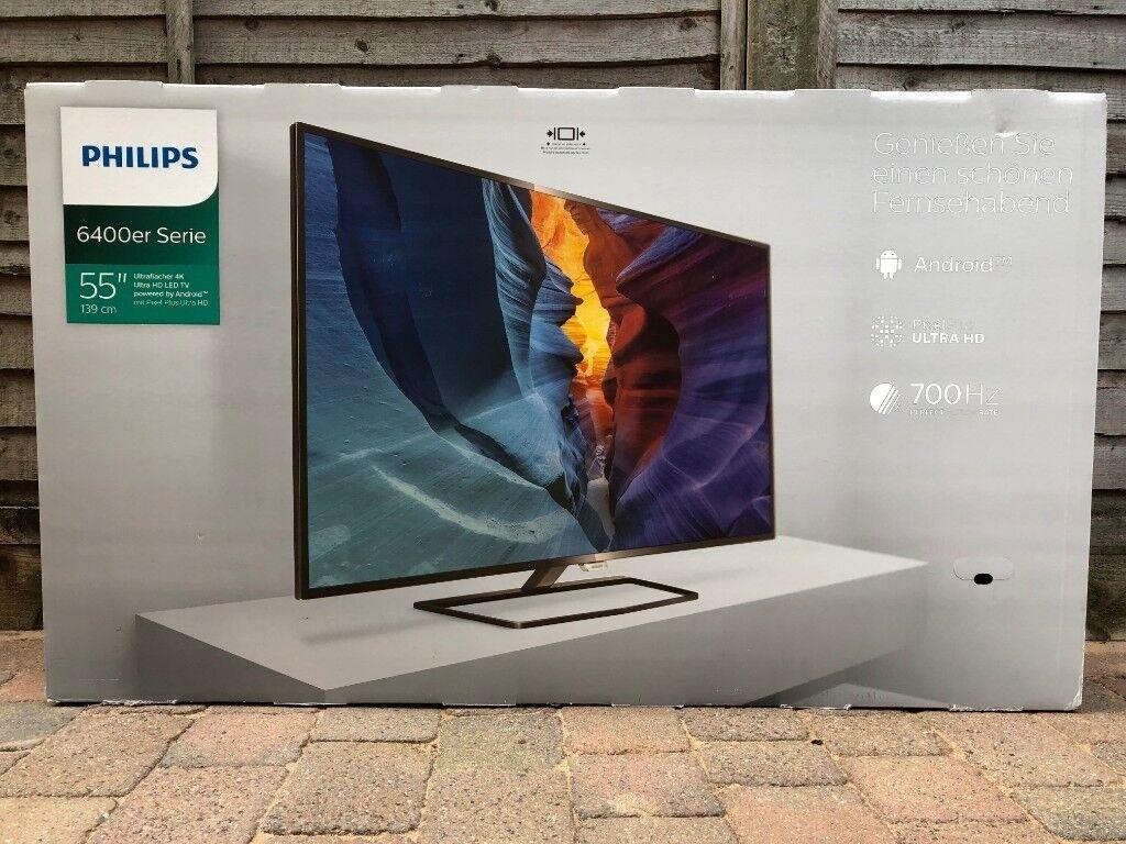55 Lcd 4k Ultra Hd Smart Tv Philips 55put640012 Faulty In