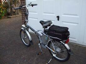 Electric Bike - will fold up for carrying in boot of car