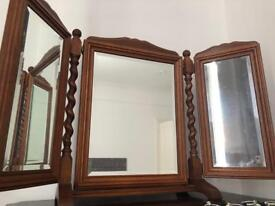 Beautiful solid wood dressing table mirror