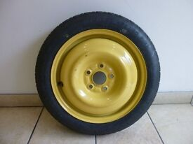 DUNLOP SPACESAVER WHEEL / TYRE & A BARGAIN - AS GOOD AS NEW