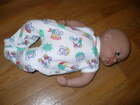 Zapf Creation Baby Annabell 18inch doll. Moves head, makes baby sounds, burps, sucks, cries. Clean!