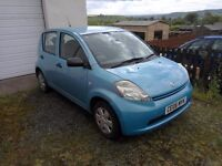 Daihatsu Sirion 1.0L (Drives and has MOT, but needs a new exhaust) Spares or Repair