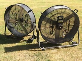 "32"" two speed Fan, 110/240v, with wheels"