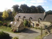 Modernised Stone House with Separate Gite and 1.5 Hectares in peaceful Brittany.