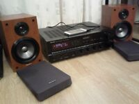 DENON AMP + SONY SPEAKERS