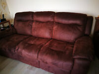 3 seater electric reclining sofas