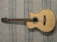 Martin Smith W-401E Electro Acoustic Guitar with Cutaway - Natural