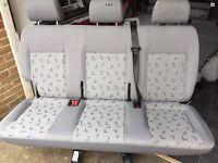 Vw T5 T6 Rear Triple Seat Transporter