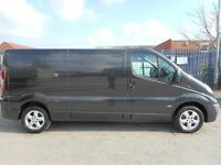 FINANCE ME!! NO VAT!! stunning lwb vauxhall vivaro sport with only 118k in midnight black.