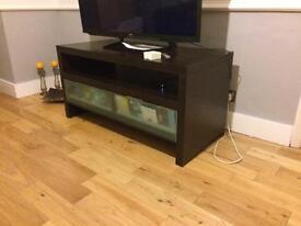 TV Stand black oak with CD storage.