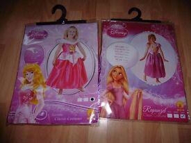 BN Disney Aurora and Rapunzel Dresses Size 7-8 Years