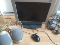 Mouse , monitor and speakers