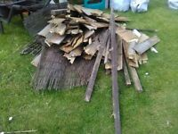Free scrap wood/fire wood. Old fences etc