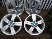 17 x 4 Alloys Wheels Will Fit VW T-4 VW Caddy Audi A3 A4 A5
