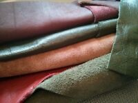 Leather Hide cuts for upholstery and craft!