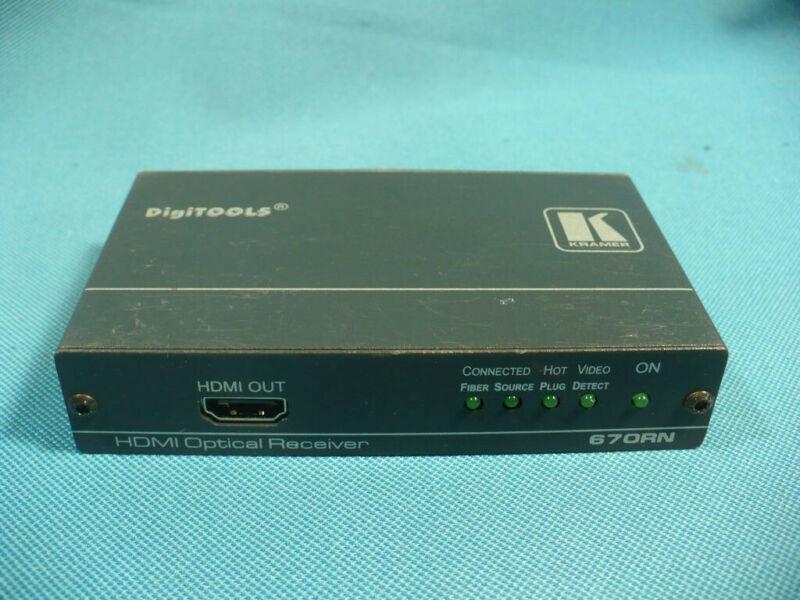 Kramer 670RN 4K UHD HDMI Over Fiber Optic Cable Receiver DigiTools