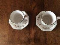 JOHNSON Bros FINE ENGLISH TABLEWARE : ETERNAL BEAU WARE : 2 CUPS & SAUCERS (& more available) : VGC