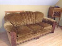 Antique chesterfield and two chairs