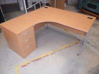 Corner Desk with FREE Pedestal & Swivel Chair