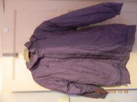 Ladies size 10 Purple Quilted Coat