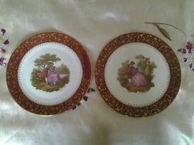 Pair of Limoges porcelain decorative plates