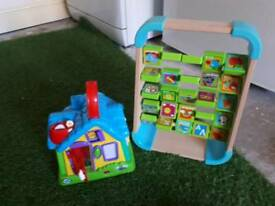 leap frog discovery house and alphabet abacus